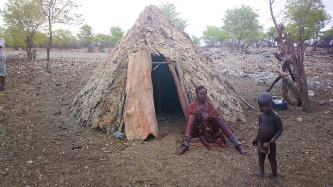 The family housing of the semi-nomadic Himba