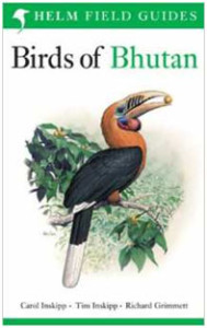 Birds of Bhutan covers all 600+ species seen in Bhutan, with plates from the above authors, but no range maps, so you'll need to follow regional abbreviations. Good plates, but brief text.
