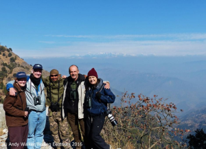 The group soaking up the incredible Himalayan view for one last time