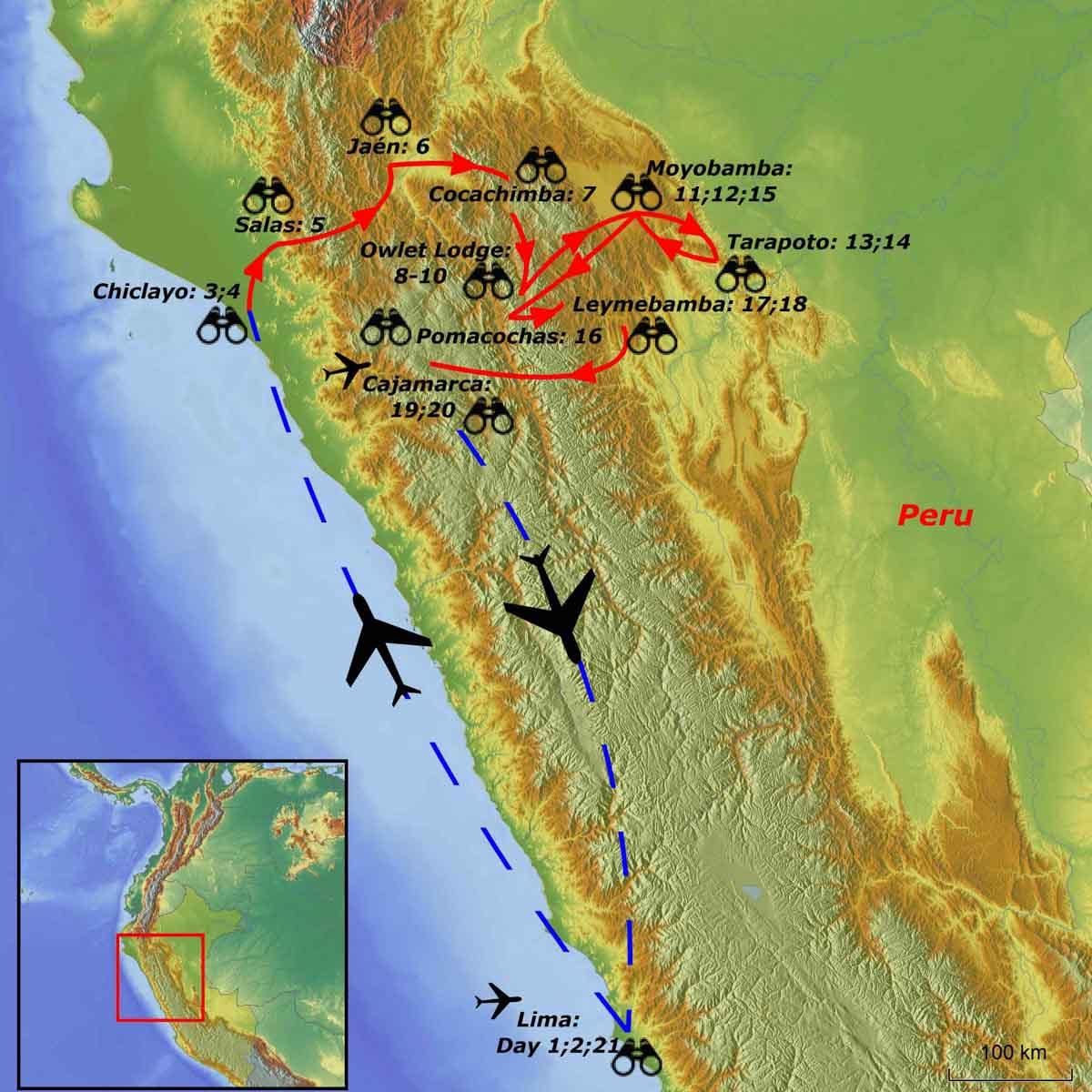 Northern Peru birding tour