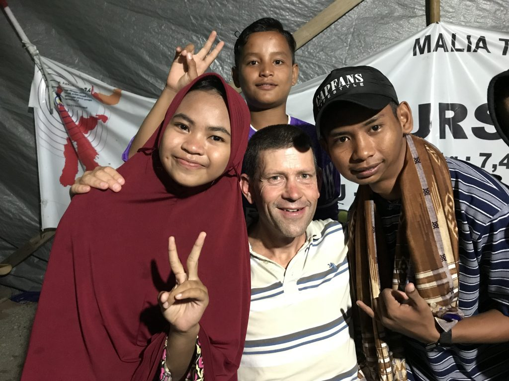 Image of children from Palu, Indonesia, after earthquake