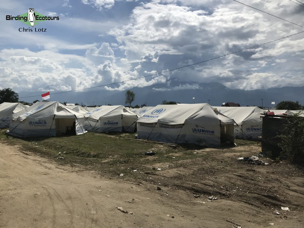 Image of UN Rufugee Camp in Indonesia after earthquake