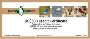 Birding Ecotours promotion